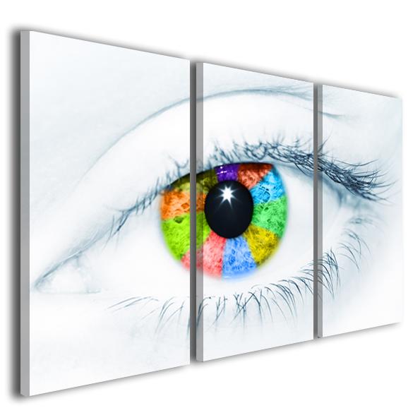 Quadri moderni Eye quadri moderni 160x70cm stampe su tela arredamento moderno